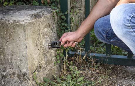 Clé pour contrôle d'accès dans le secteur de l'eau